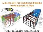 Avail the Best Pre Engineered Building Manufacturers in India