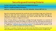 Here Is What You Should Do For Your Security guard training Ontario