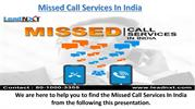 Missed Call Services In India