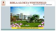 Birla Alokya Whitefield Brochure -3 / 4 Bhk residential apartments