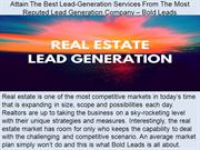 Attain The Best Lead-Generation Services From The Most Reputed Lead Ge