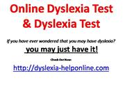 Online Dyslexia Test | Dyslexia Test