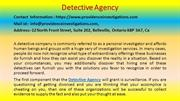 How to Build an Empire with Detective Agency