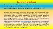 How to improve at legal investigations in 60 Minutes