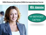 MBA Distance Education MBA Correspondence Course