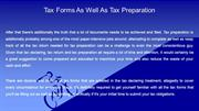 Tax Forms As Well As Tax Preparation