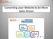 Converting your Website to be More Sales Driven