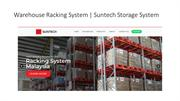 Warehouse Racking System | Suntech Storage System