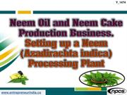Neem Oil and Neem Cake Production Business