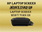 Solution  for HP laptop screen won't turn on