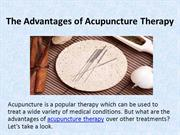 The Advantages of Acupuncture Therapy