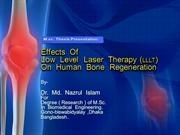 Thesis Presentation: Laser on Human Bone Regeneration