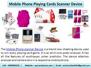 Mobile Phone Playing Cards Scanner Device