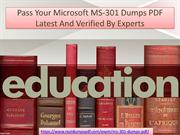 Pass Microsoft MS-301 Dumps PDF Latest And Verified By Experts
