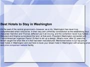 Best Hotels to Stay in Washington