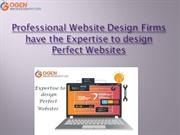 Professional Website Design Firms have the Expertise to design Perfect
