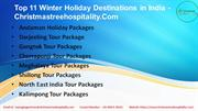 Top 11 Winter Holiday Destinations in India