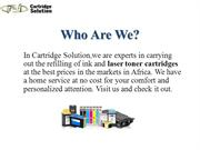 Refill Your Laser Printer Toner Cartridge with Cartridge Solution