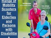 Range of Mobility Scooters for Elderlies and Persons with Disabilities