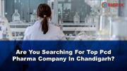 Top Pcd Pharma Companies in Chandigarh