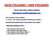 False Eyelashes | Fake Eyelashes