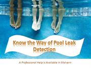 Know the Way of Pool Leak Detection A Professional Help is Available i