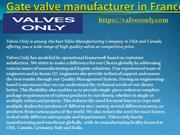 Gate valve manufacturer in France