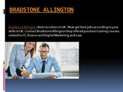 Bradstone Allington || Get Jobs According to Your Education in Uk