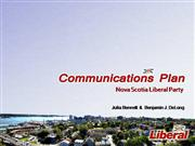 Nova Scotia Liberal Party Comm Plan