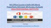 MS Office Course in Delhi (MS Word, PowerPoint,)
