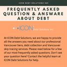 Frequently Asked Questions about Debt