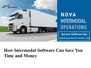 How Intermodal Software Can Save You Time and Money