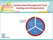 Activity Based Management Proof Reading and Editing Services