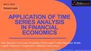 APPLICATION OF TIME SERIES ANALYSIS IN FINANCIAL ECONOMICS