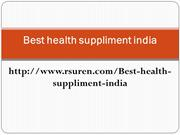Best health suppliment india