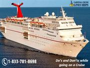 Do's and Don'ts while going on a Cruise