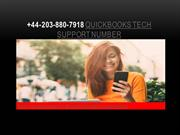+44-203-880-7918 Quickbooks Tech Support Number
