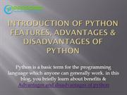 Benefits & features of python | Advantages & disadvantages of python