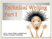 Technical Writing Part I