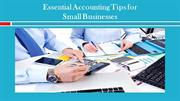 Essential Accounting Tips for Small Businesses