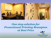 One stop solution for Promotional Printing Brampton at Best Price