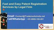 Patent Registration Services by Legal Firm