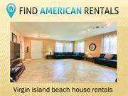 Virgin island beach house rentals