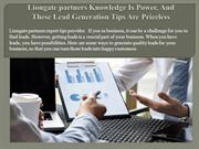 Liongate partners Knowledge Is Power, And These Lead Generation Tips A