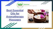Best Essential Oils for Aromatherapy Massages