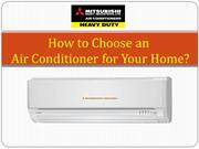 How to Choose an Air Conditioner for Your Home