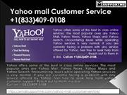 Yahoo Mail Customer Service +1(833)409-0108​ Yahoo Helpline Number