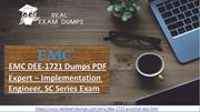 Buy EMC DEE-1721 Dumps With 3 Month Free Updates By Realexamdumps.com