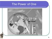 POWER OF ONE  ..   MISSION SUPPORT USA.C