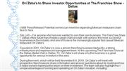Ori'Zaba's to Share Investor Opportunities at The Franchise Show